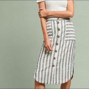 🆕 Anthropologie Maeve Striped Skirt